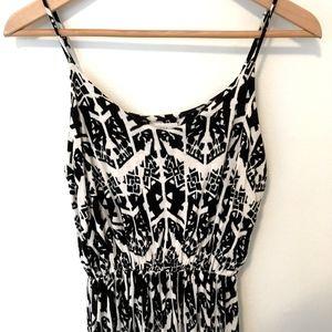 NORDSTROM Black and White Print Maxi Dress XS